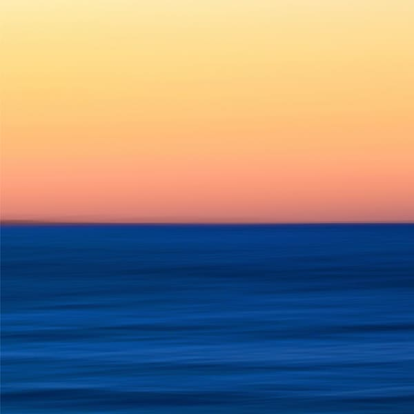 """Fire Water"" - Abstract Martha's Vineyard beach ocean artwork"