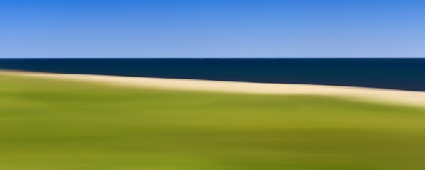 """Sconset Stripes"" - Abstract Nantucket panoramic beach art"