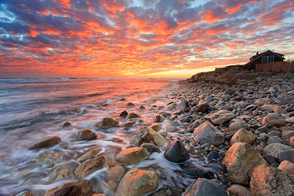 """Matunuck Sunset"" Fine art Matunuck Beach, Rhode Island sunset seascape photograph, by Katherine Gendreau."