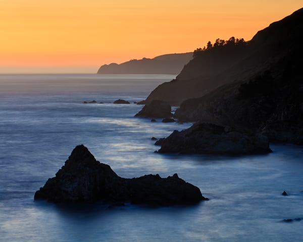"""Julia Pfeiffer Cove Sunset"" - Big Sur, California coastal sunset art"