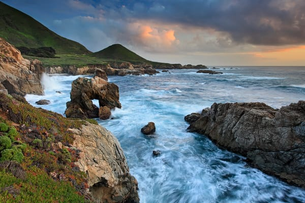 """Soberanes Cove Sunset"" - Big Sur, California coast fine art seascape photography"