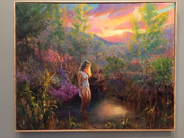 "Original oil painting titled ""Morning Glow"" by Eric Wallis"