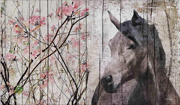 Horse Le Muse 2, Equestrian Rustic Wall Art, Textured Decorative Horse Art, Farm House Wall Decor