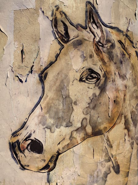 Winner Horse, Horse Portrait. Equestrian Rustic Wall Art, Textured Decorative Horse Art, Farm House Wall Decor. Great Selection of Irena Orlov Horse Art.