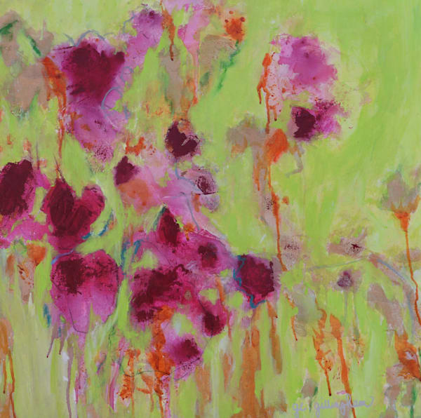 Pink Flowers by Geraldine Gillingham | SavvyArt Market original painting