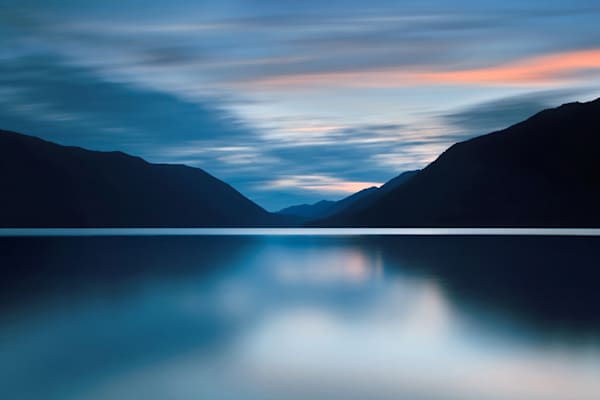 """Lake Crescent Dusk"" Olympic National Park landscape photograph"