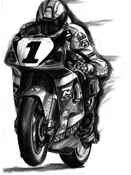 Suzuki Racing motorcycle racing art