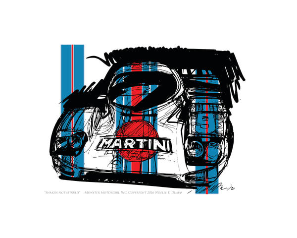 Porsche race car art