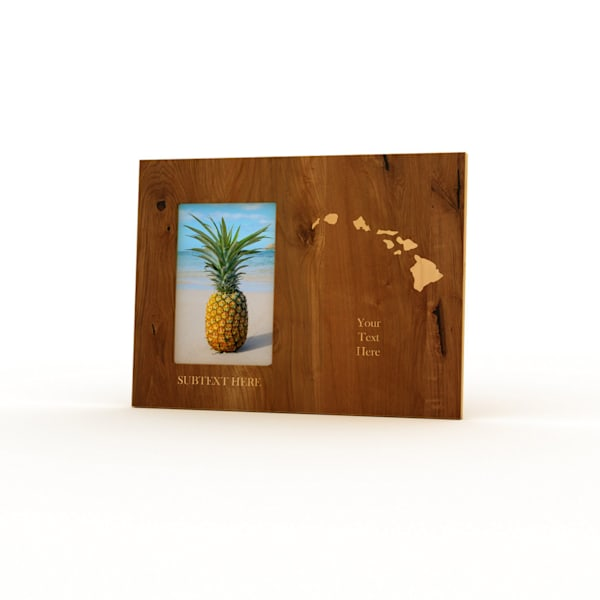 9x12 Personalized Picture Frame | Hawaiian Islands