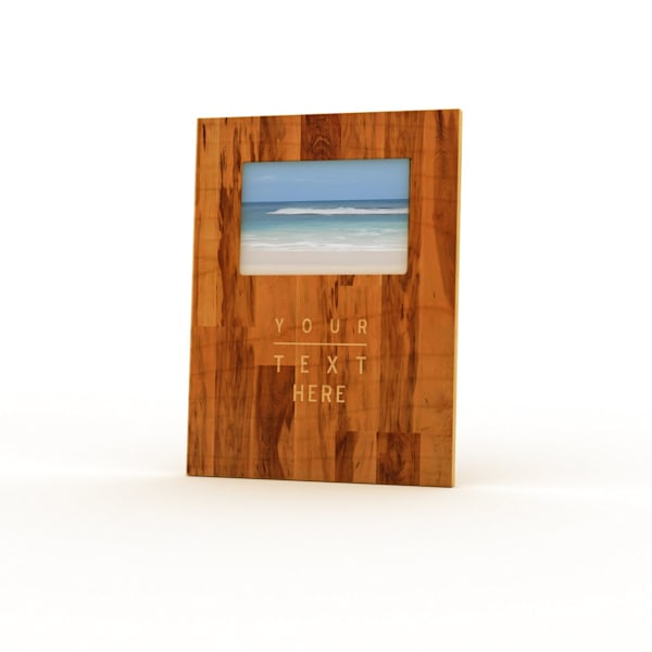 9x12 Personalized Picture Frame | Woodgrain