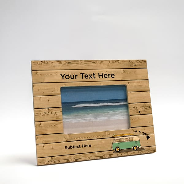 8x10 Personalized Picture Frame | Beach Bus