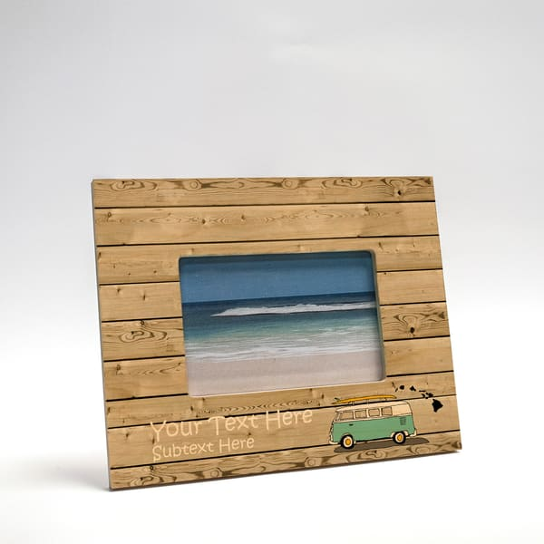 8x10 Personalized Picture Frame | Beach Bus II