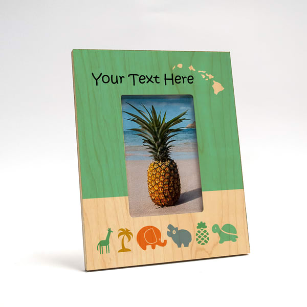 8x10 Personalized Picture Frame | Baby Animals