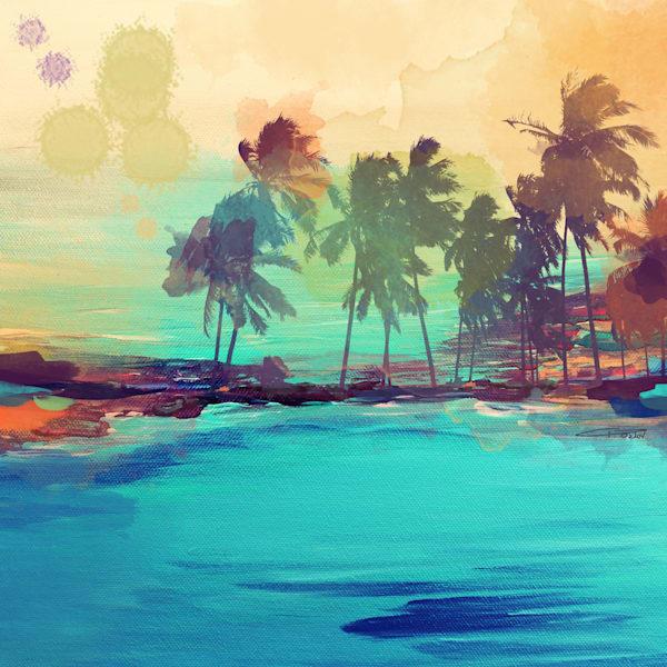 30 X 30 Palm Island Ii Art | Irena Orlov Art