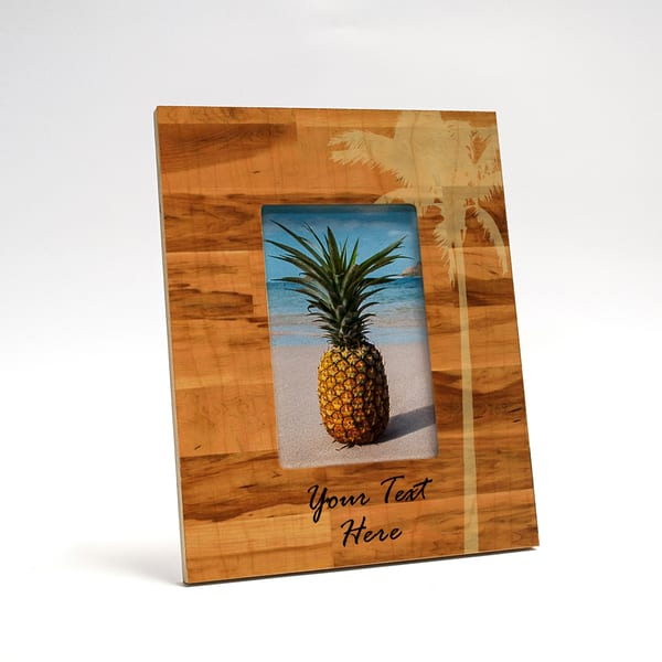 Palm Tree Vertical 8x10 Personalized Picture Frame