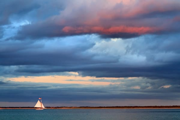 """Sunset Sail"" - Nantucket sailing photograph"