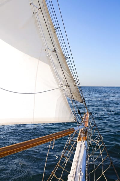 """Nantucket Sail"" Fine art vertical sailboat photograph"