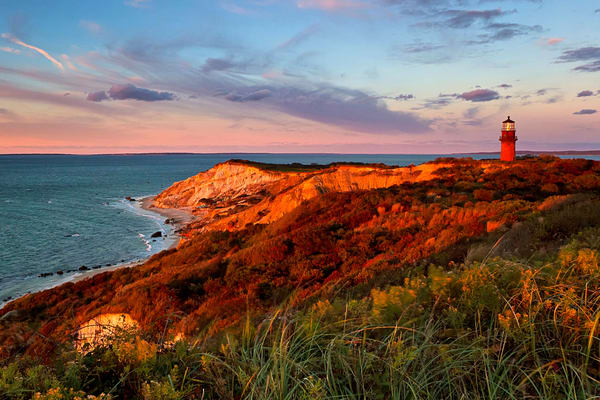"""Gay Head Sunset"" Martha's Vineyard lighthouse photography"