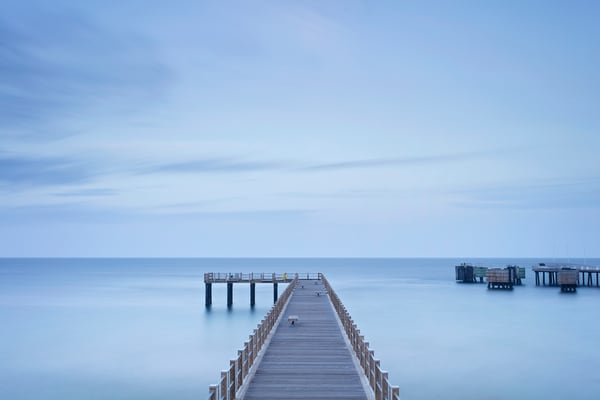 """Dusk on the Pier II"" Oak Bluffs Martha's Vineyard fishing pier photograph"