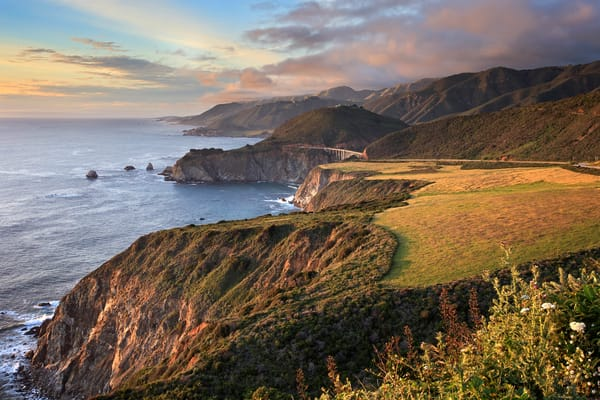 """Hurricane Point Sunset"" Big Sur California seascape wall art"