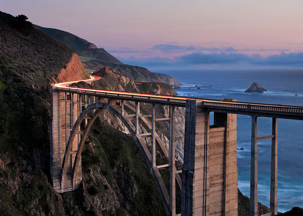 """Bixby Bridge Dusk"" Big Sur California fine art landscape photography"