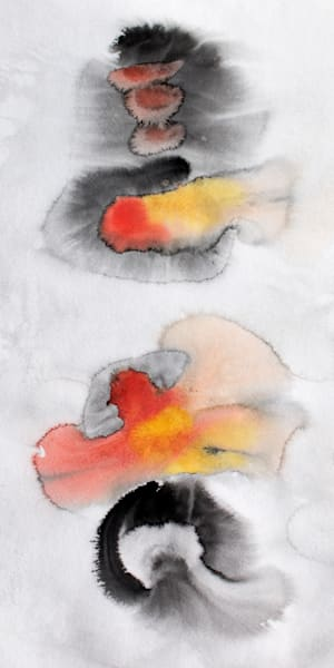 Join Forces  watercolor abstract art for sale