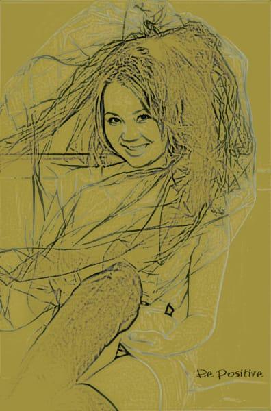 Orl 334 3 Be Positive Olive Art | Irena Orlov Art