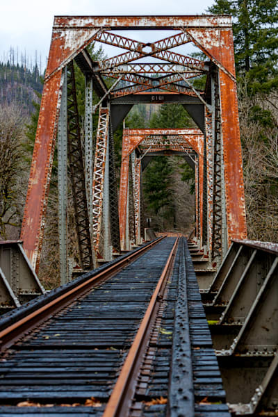 Rusty Tracks: Railroad Photo - by Curt Peters
