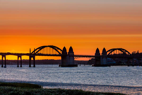 Siuslaw River Bridge: Florence, Oregon - by Curt Peters