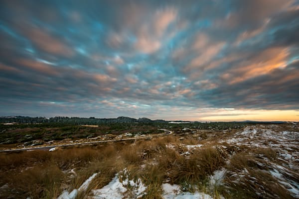 South Jetty Snow: Florence Oregon - by Curt Peters