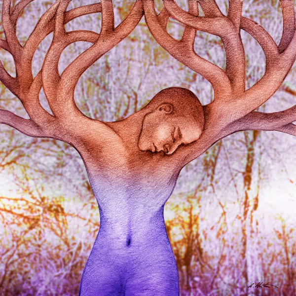 Tree Art by Alyssa Hinton-Original-Mixed Media Paintings-Fine Art Prints on Canvas, Paper, Metal & More