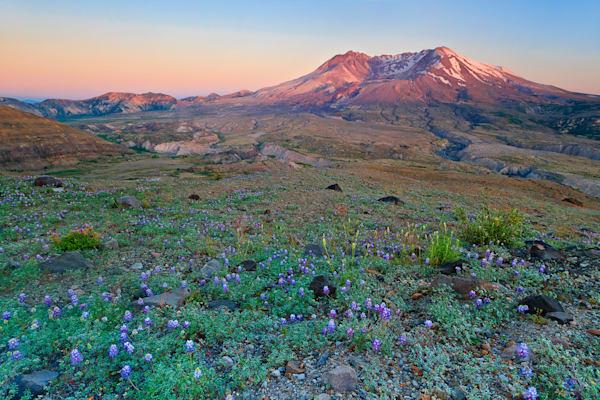 """Saint Helens Sunset"" - Fine art Mt St Helens landscape photograph"