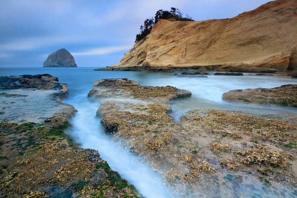 """Kiwanda in Blue"" Oregon coast seascape photograph"