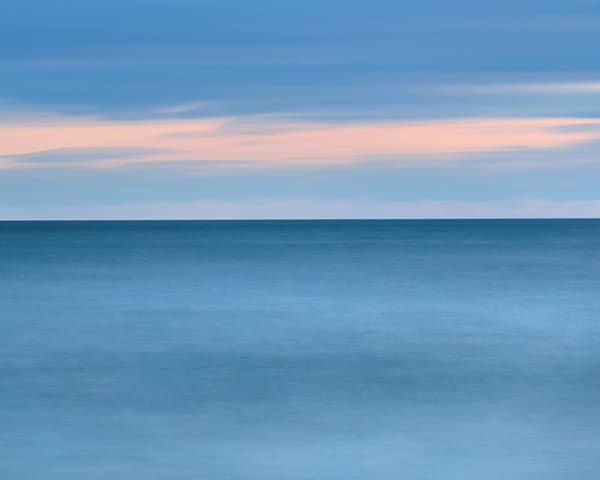 """Weekapaug in Blue"" Rhode Island abstract beach photograph"