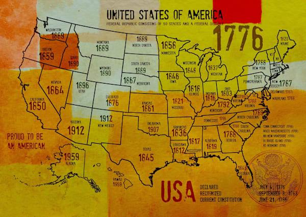 ORL-2988-36 USA Map 1776-36