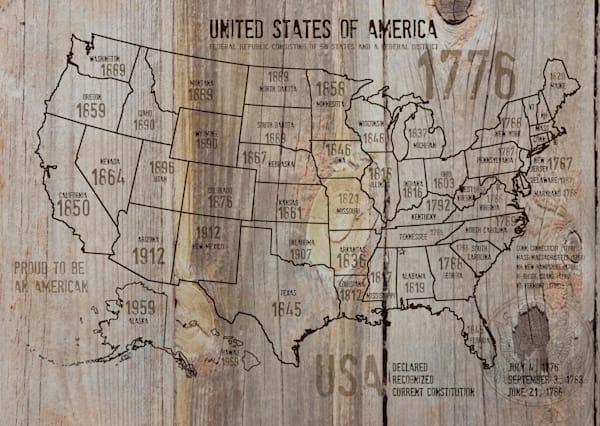 ORL-2988-37 USA Map 1776-37