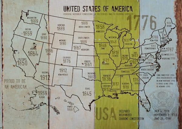 ORL-2988-38 USA Map 1776-381