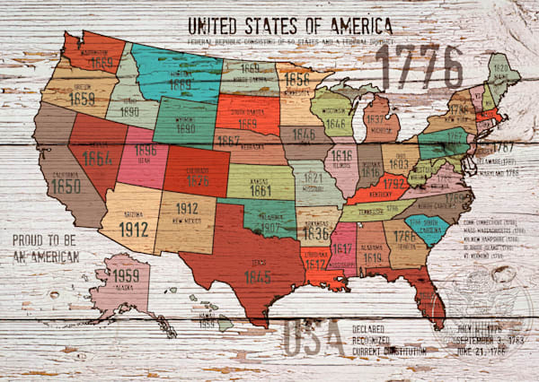 Orl 2989 1 The United States Of America Map I Art | Irena Orlov Art