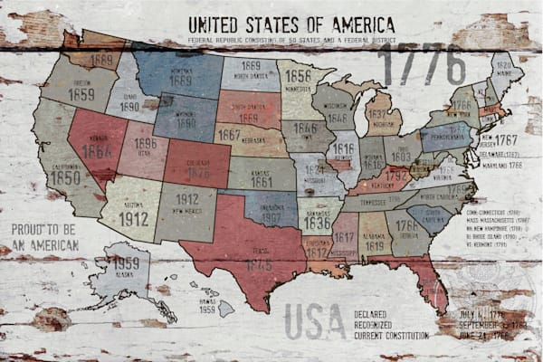 Orl 2989 3 1 The United States Of America Map Ii Art | Irena Orlov Art