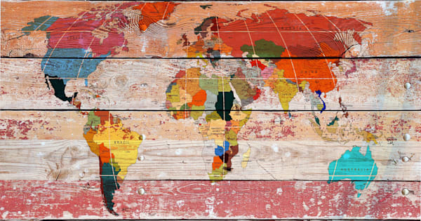 Orl 3011 World Map Art | Irena Orlov Art