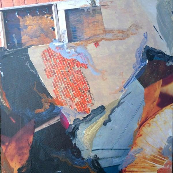 Buy Bricks - Original Mixed Media on canvas
