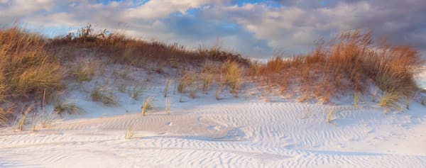 """Dunes Light"" Newport Rhode Island Panoramic Beach Photograph"