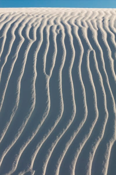 White Sand Ripples Reaching Forever photograph for sale as art.