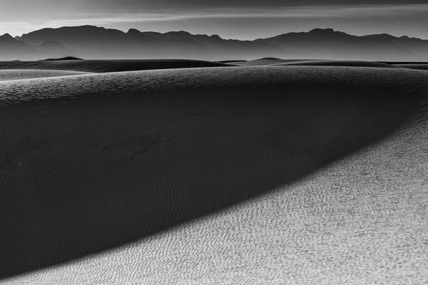 Sunrise on White Sands National Monument photograph for sale as art.