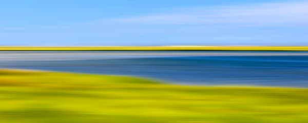 """Fort Hill Marsh"" Abstract Cape Cod Coastal Marsh Panoramic Photograph"