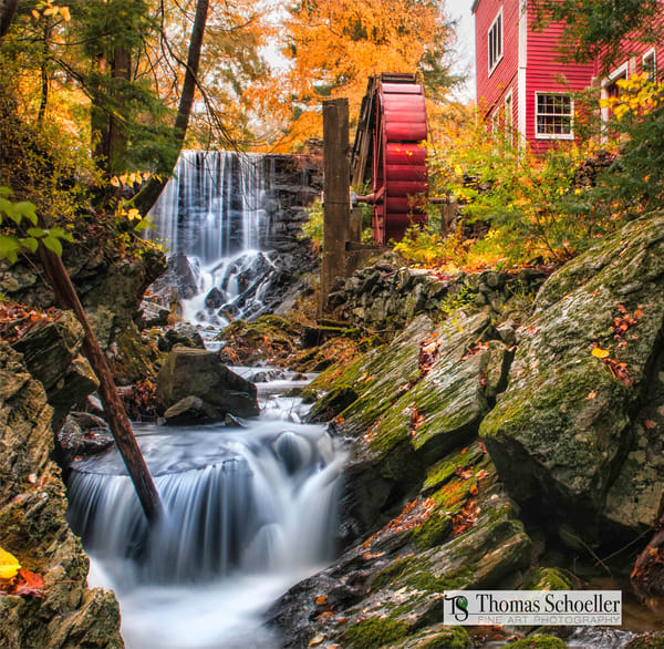 Historic Bridgewater CT Grist Mill art print/Thomas Schoeller master works