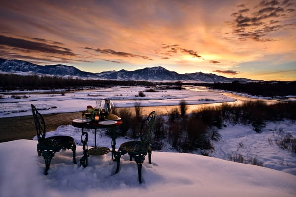 The Table Photographs Falls Creek Winter Home Coming - Fine Art Prints on Metal, Canvas, Paper & More By Kevin Odette Photography