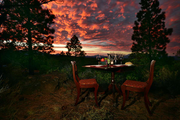 The Table Photographs - Under A Burning Sky - Oregon - Fine Art Prints on Metal, Canvas, Paper & More By Kevin Odette Photography