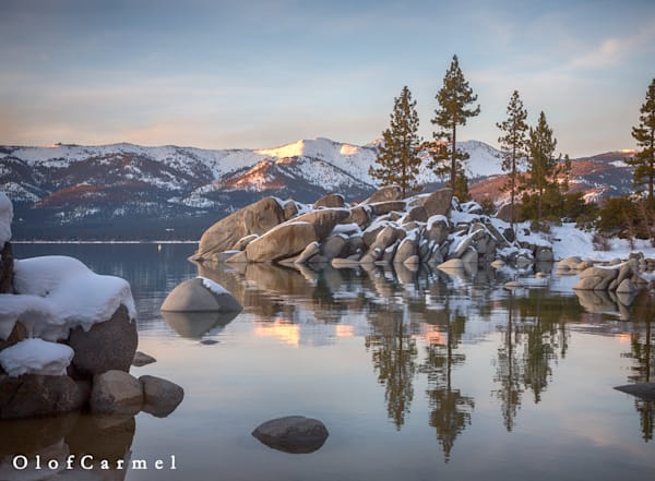 Winter Calm, Sand Harbor | Lake Tahoe fine art photography prints by Olof Carmel, The Carmel Gallery