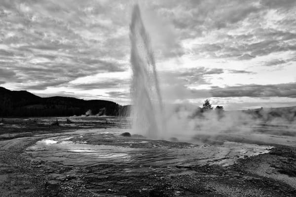 Exhale in Black and White Geyser Basin Photographs Yellowstone National Park - Fine Art Prints on Metal, Canvas, Paper & More By Kevin Odette Photography